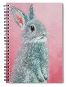 Grey Easter Bunny Spiral Notebook