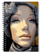 Grey Glitter Gertrude Spiral Notebook