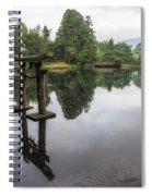 Grey Heron On Lake Kinrin Spiral Notebook