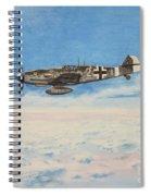 Grey In Blue Spiral Notebook