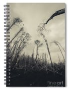 Grey Winds Bellow  Spiral Notebook