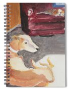 Greyhound And Spaniel Spiral Notebook