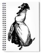 Greyhound Grandville Transparent Background Spiral Notebook
