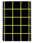 Grid Boxes In Black 05-p0171 Spiral Notebook