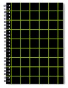 Grid Boxes In Black 09-p0171 Spiral Notebook