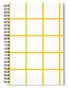 Grid Boxes In White 05-p0171 Spiral Notebook