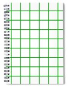 Grid Boxes In White 09-p0171 Spiral Notebook
