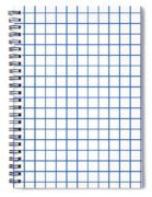 Grid Boxes In White 18-p0171 Spiral Notebook