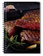 Grilled Beef Steak Spiral Notebook