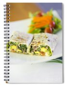 Grilled Vegetable And Salad Wrap Spiral Notebook