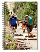 Grinding It Out On The Manitou Incline And Barr Trail Spiral Notebook