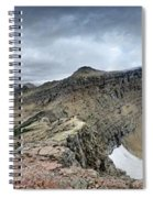 Grinnell Glacier Overlook Panorama - Glacier National Park Spiral Notebook