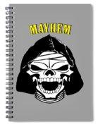 Grinning Mayhem Death Skull Spiral Notebook