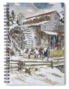 Grist Mill, 19th Century Spiral Notebook