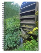 Grist Mill Water Wheel Cape Cod Spiral Notebook