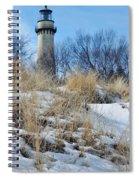 Grosse Point Lighthouse Winter Dunes Spiral Notebook