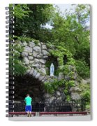 Grotto Of Our Lady Of Lourdes Spiral Notebook