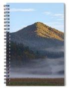 Ground Fog In Cataloochee Valley - October 12 2016 Spiral Notebook