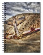 Grounded Plane Wreck Spiral Notebook