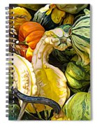 Group Of Gourds Expressionist Effect Spiral Notebook