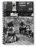 Group Of Hoboes, 1920s Spiral Notebook