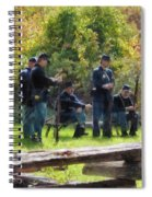 Group Of Union Soldiers Spiral Notebook