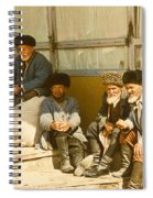 Group Of Uzbek Retirees Spiral Notebook