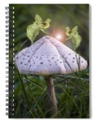 Growing Mushrooms Spiral Notebook