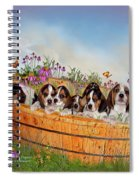 Growing Puppies Spiral Notebook