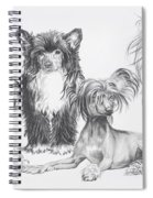Growing Up Chinese Crested And Powderpuff Spiral Notebook