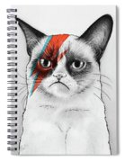 Grumpy Cat As David Bowie Spiral Notebook