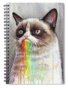 Grumpy Cat Tastes The Rainbow Spiral Notebook