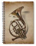 Grunge French Horn Spiral Notebook