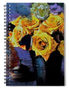 Grunge Friendship Rose Bouquet With Candle By Lisa Kaiser Spiral Notebook