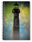 Grunge Lighthouse Spiral Notebook