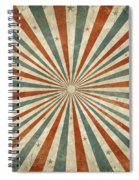Grunge Ray Retro Design Spiral Notebook