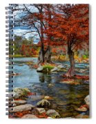 Guadalupe River In Autumn Spiral Notebook