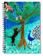 Guard Dog And Guard Peacock  Spiral Notebook