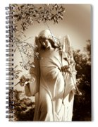 Guardian Angel Bw Spiral Notebook