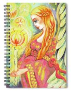 Guardian Mother Of Light Spiral Notebook