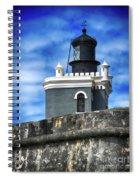 Guarding Lighthouse Spiral Notebook