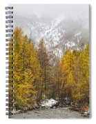 Guisane Valley In Autumn - French Alps Spiral Notebook