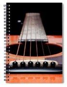 Guitar Orange 19 Spiral Notebook