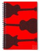 Guitar Silhouette Background Spiral Notebook