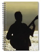 Guitar Silhouette Spiral Notebook