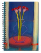 Guitar Vase Spiral Notebook
