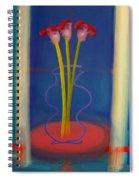 Guitar Vase Spiral Notebook