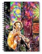 Guitar Watercolor Spiral Notebook