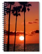 Gulf Coast Sunset Spiral Notebook