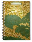 Gulf Of Mexico, States Of Central America, Cuba And Southern United States Spiral Notebook